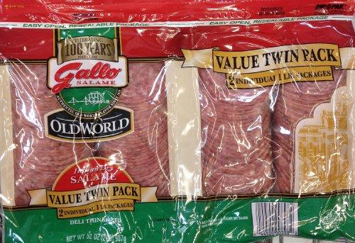 2 Pounds Gallo Italian Dry Salame Salami Deli Thin Sliced Total 32oz