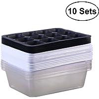 BESTOMZ Bandeja Sprouter de semillas de 10 paquetes