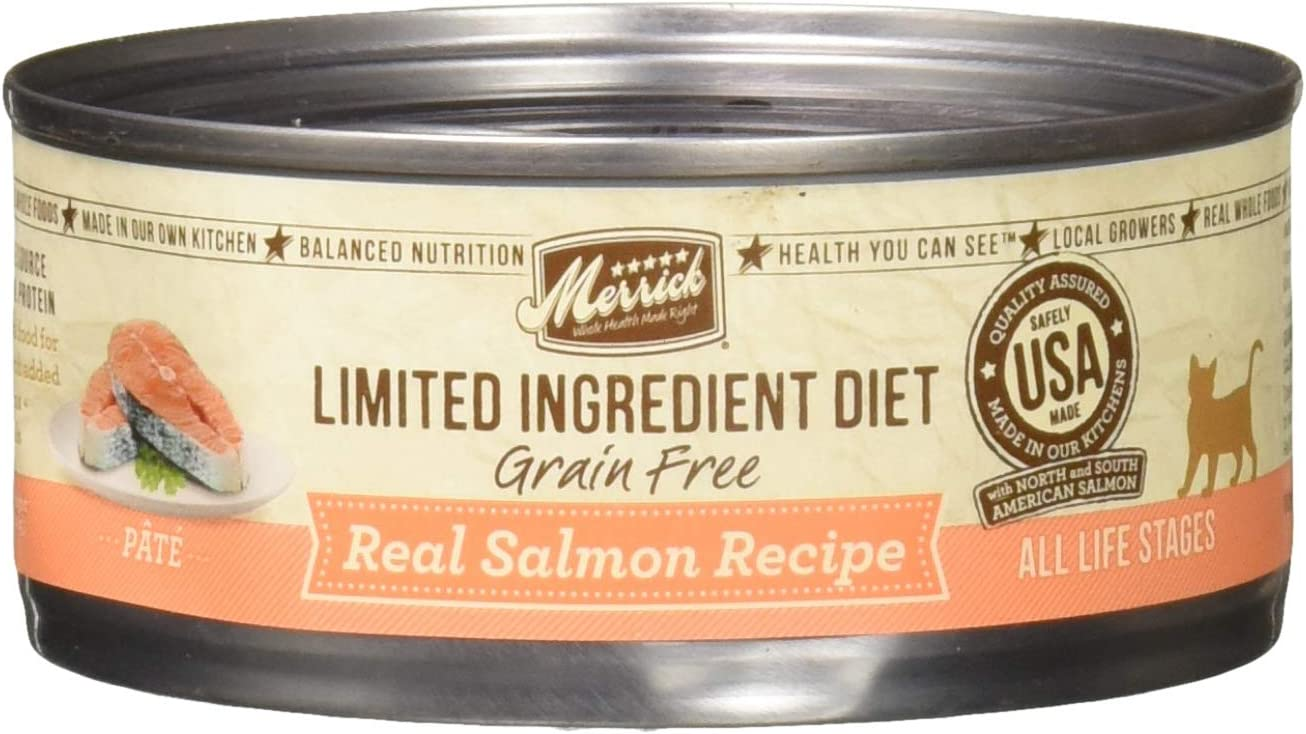 Merrick Limited Ingredient Diet Grain Free Salmon Canned Cat Food, 5 oz, Case of 24