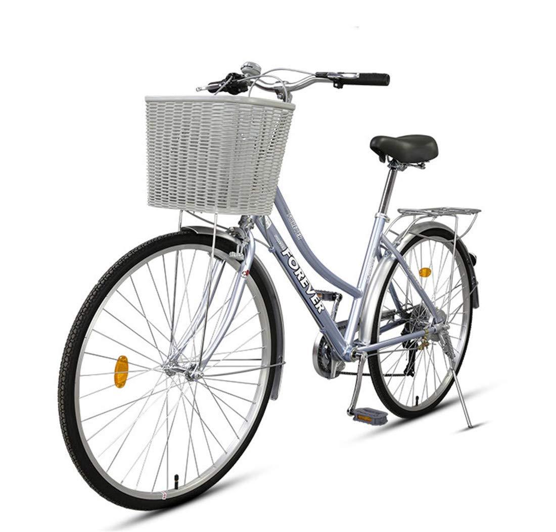 Citybike 7-Gang Fahrrad Aluminiumlegierung Rahmen Für Erwachsene Mountainbike Blau 24inch
