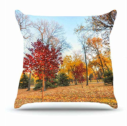 Hubery Throw Pillowcase 18 X 18 Inches Cotton Pillow Cover Case With Hidden Zipper Decor Cushion Covers Landscapes Autumn Trees Park Landscape For Outdoor Buy Online In Aruba At Aruba Desertcart Com Productid 45374414
