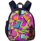 Colorful Mathematical Geometry Design Cute Backpack School Book Backpack Shoulder Bag Schoolbag For Girls Boys