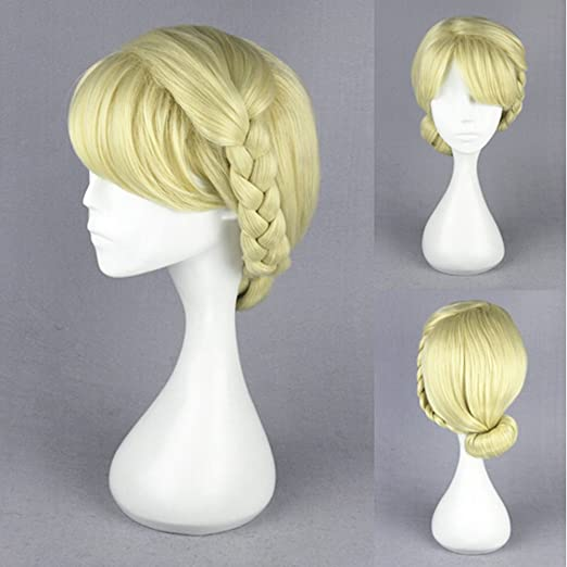Victorian Wigs, Hand Fan, Purse, Gloves Accessories Hair Bun with Bangs with Braided Hair Cute Adorable Wig Heat Resistance Fiber Wig for Daily Use Cosply Parties and Halloween $28.50 AT vintagedancer.com