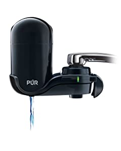 PUR FM-2000B Classic Vertical Water Filtration Faucet Mount, Black