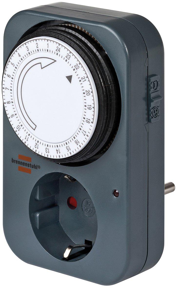 Brennenstuhl 24 h Timer MZ 20 - Temporizador con enchufe, negro product image