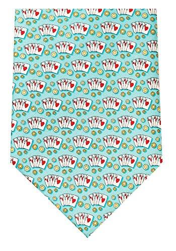 Texas Hold'em Poker Men's Necktie - Aqua