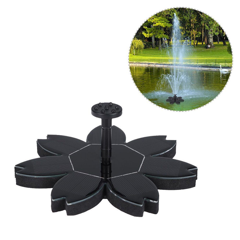 Bloomma Solar Fountain, Solar Powered Bird Bath Fountains Pump with 6 Different Spray Heads for Small Pond,Fish Tank,Garden Decor