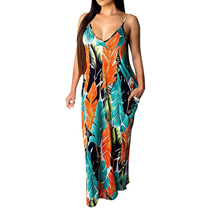 Women\'s Casual Summer Stripe Bodycon Long Maxi Dresses Floor ...