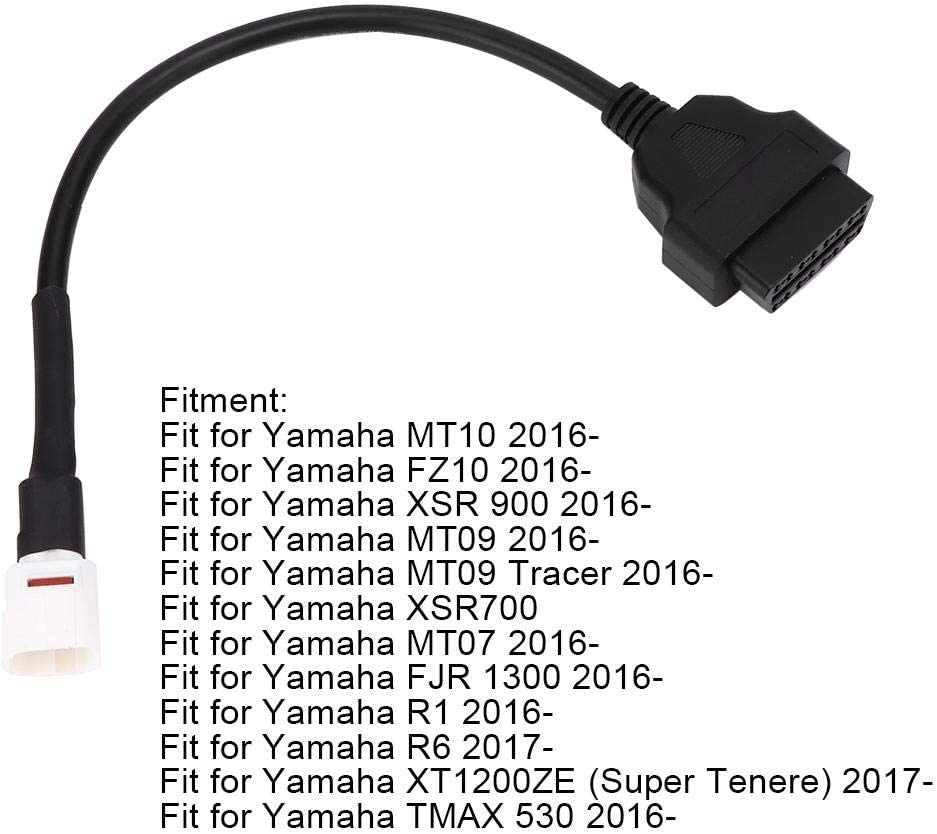 4 Pin to Obd2 Diagnostic Adapter Connector Motorcycle Scanner Diagnostic Cable fit for Yamaha