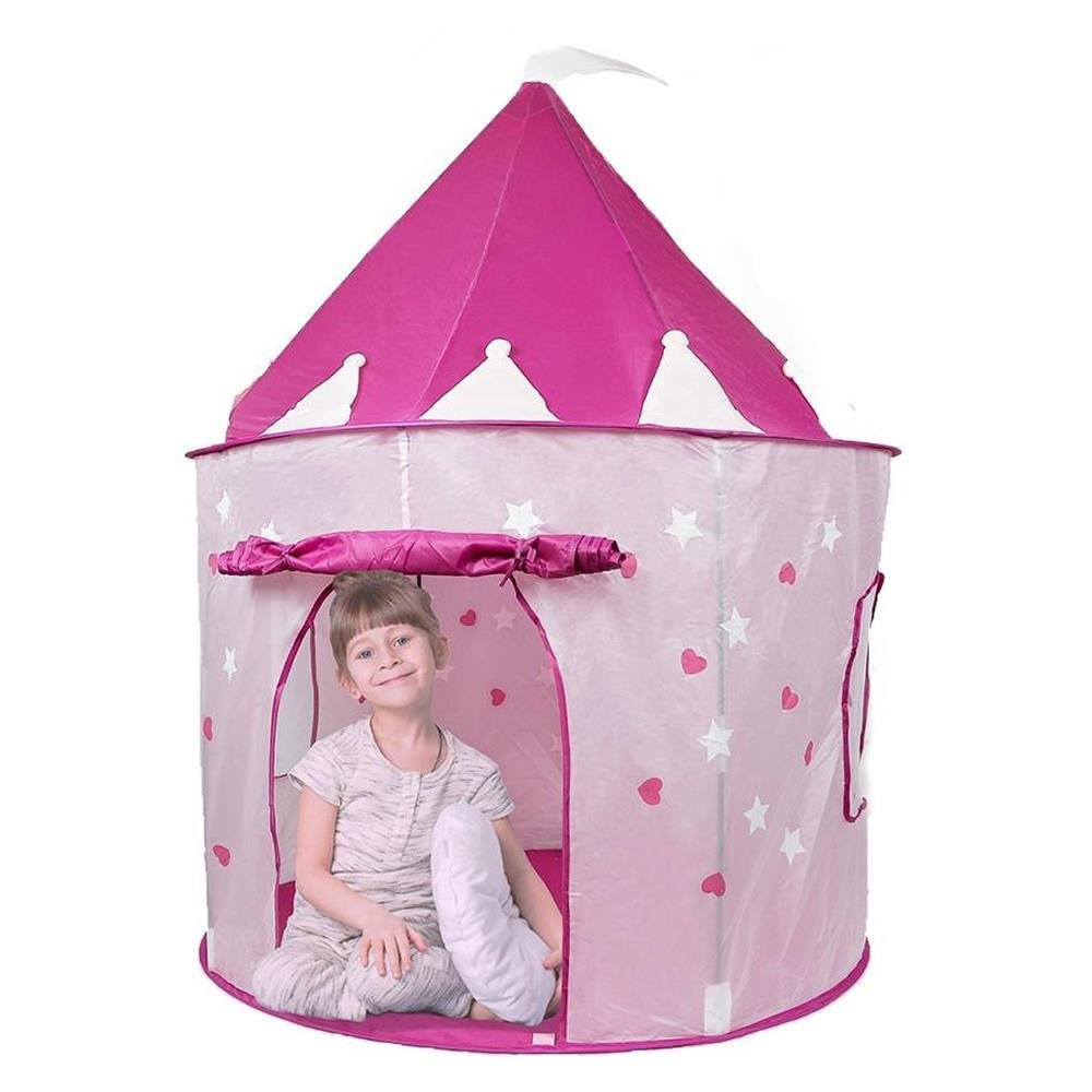 Amazon.com Play Tent Princess Castle by Pockos - Features Glow in the Dark Stars Toys u0026 Games  sc 1 st  Amazon.com : toddler playhouse tent - memphite.com