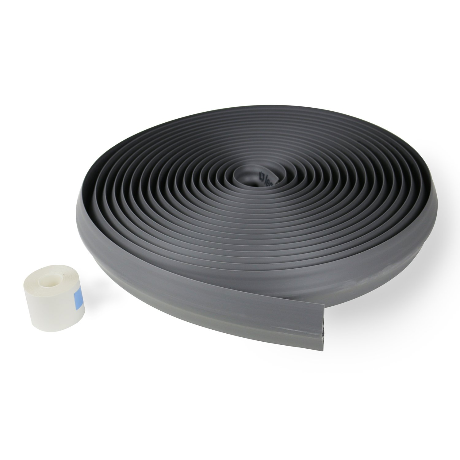 Legrand - Wiremold CDG-50 Corduct Overfloor Cord Protector-  Rubber Duct Floor Cord Cover, Gray (50 Feet)