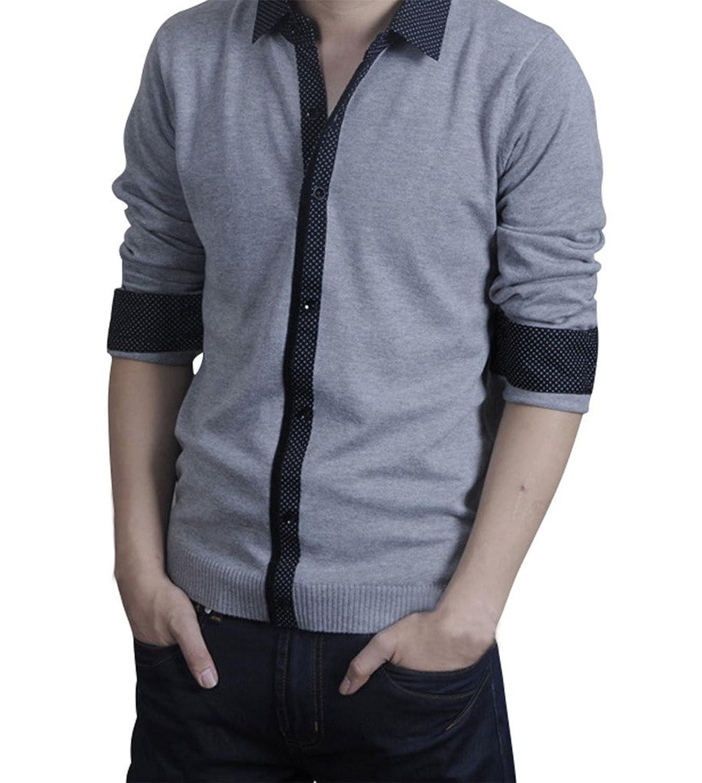 Gillbro Men Sweater Jumper Tops Cardigan Premium Stylish Slim Fit V-neck Sweater
