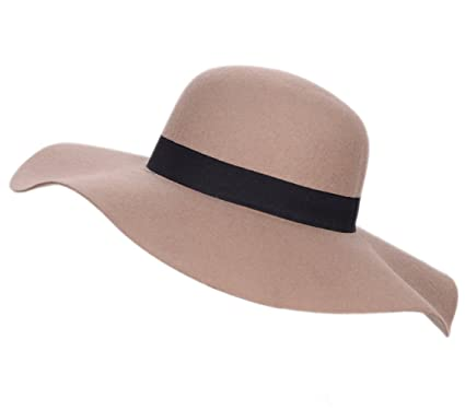 Floppy Wide Brim Hat-100% Wool Felt Fedora Warm Foldable Retro 1970s style  With Women s Fashion Vintage Bowler 4 Colors Cap For Ladies  Any Outfits e639273256f2