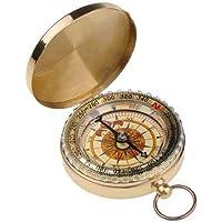 Lyanther Outdoor Camping Wandern Tragbare Messing Runde Goldene Kompass Navigation Werkzeug
