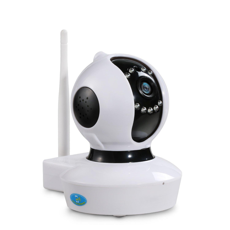 NexGadget Cámara IP HD WiFi Interior P2P Micrófono Altavoz Visión Nocturna Detección de Movimiento