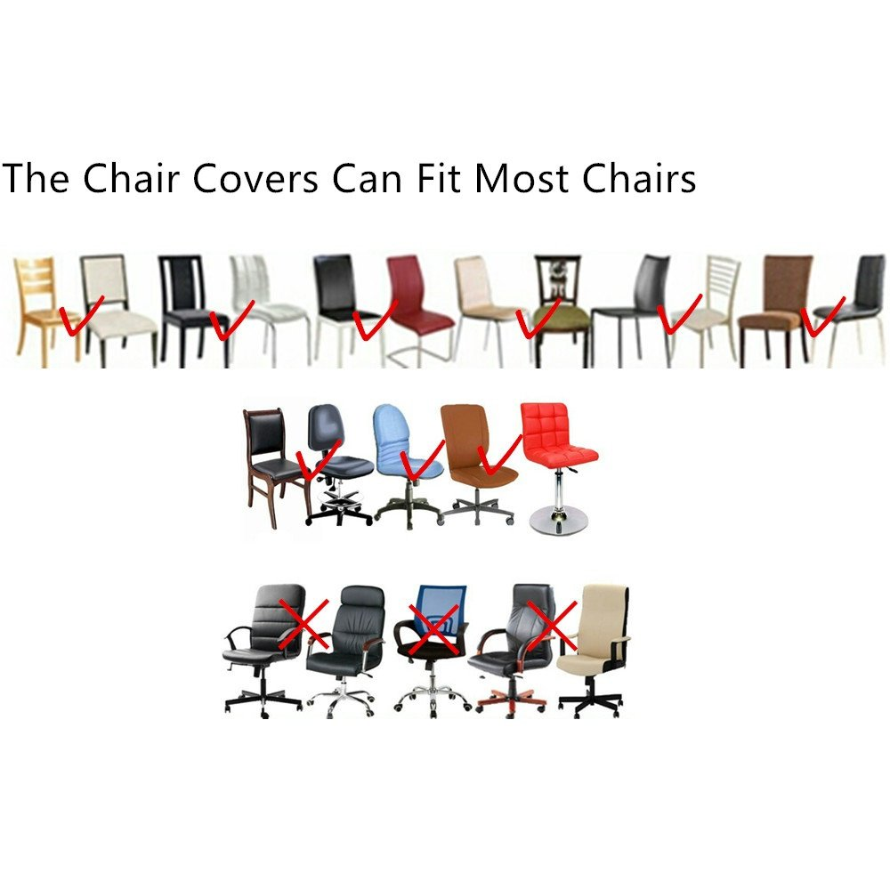 1PCS, C-Black Inroy PU Chair Covers Artificial Stretch Leather Chair Protector Waterproof and Oilproof Universal Seat Slipcovers