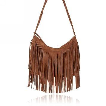 Fashionwu Celebrity Tassel Suede Fringe Shoulder Messenger Bag ...