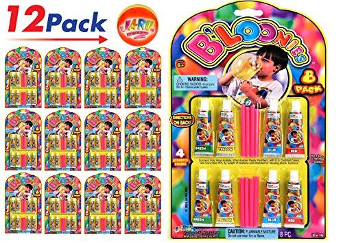 JA-RU B'loonies Plastic Balloon Variety 8 (Pack of 12 ) and 1 Bouncy Ball - Bouncy Bubbles