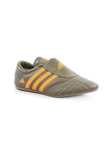 new style 630ba 5056f Adidas Taekwondo Leather Sneakers TKD-SM-II KhakiOrange EU39.5  Amazon.co.uk Shoes  Bags