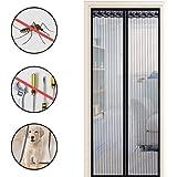 Cortina de puerta anti-mosquitos, Sebami Mosquitera Magnética para Puertas, Anti Insectos Moscas y Mosquitos con Cinta…