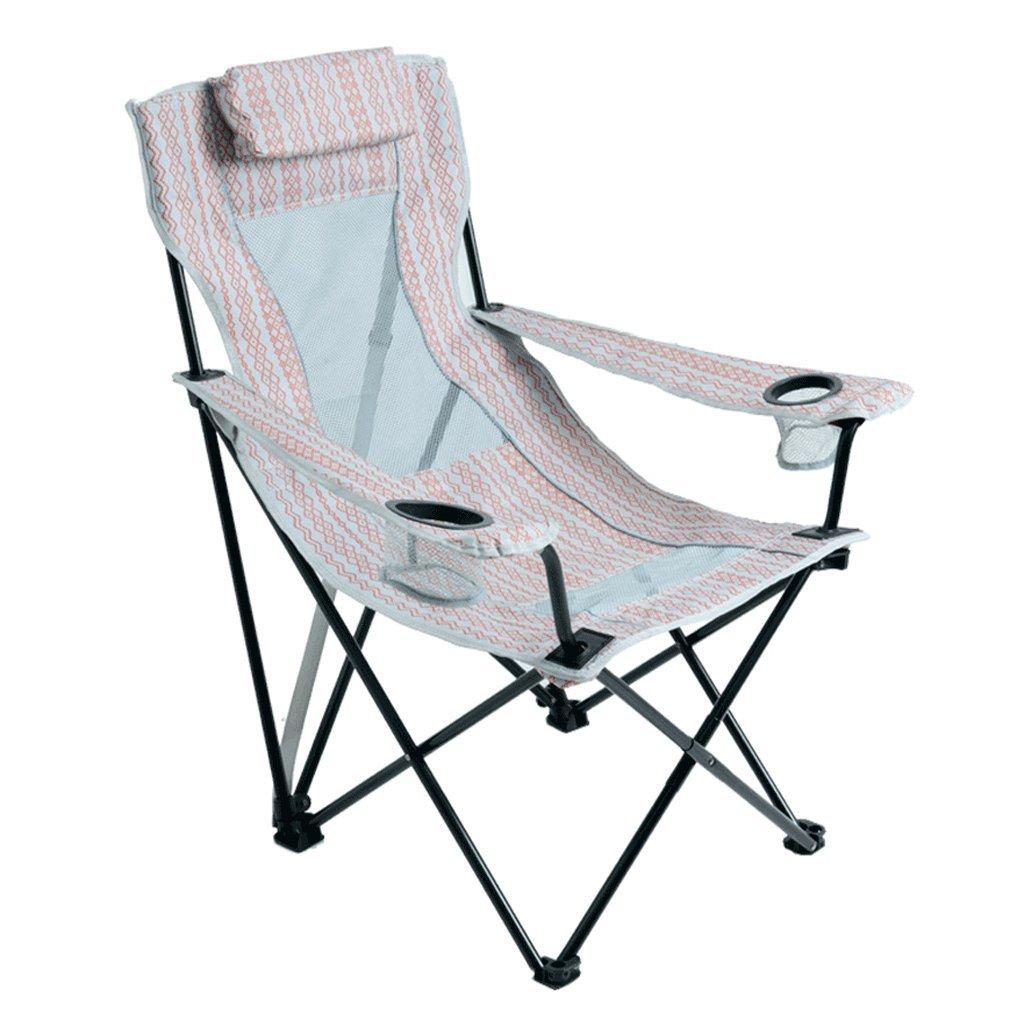 GWM 屋外折りたたみ椅子ポータブル背もたれラウンジランチブレイクビーチチェアホームレジャーナップ釣りチェア   B07K81KRC5