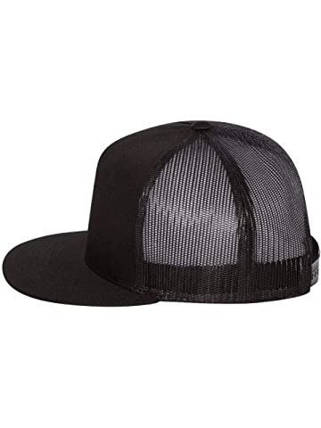 51e078602b8 Amazon.com  Richardson Black 112 Mesh Back Trucker Cap Snapback Hat ...