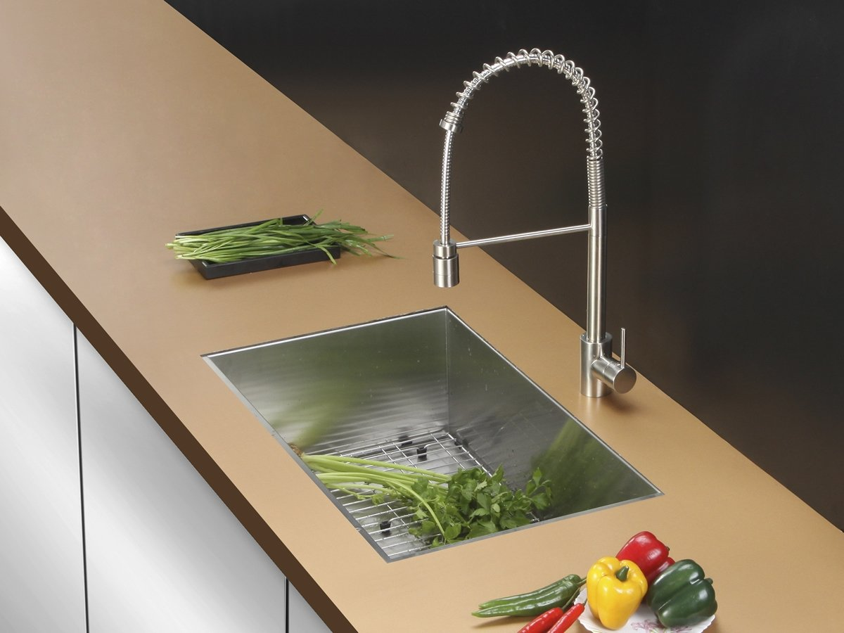 Ruvati RVC2607 Stainless Steel Kitchen Sink and Stainless Steel Faucet Set