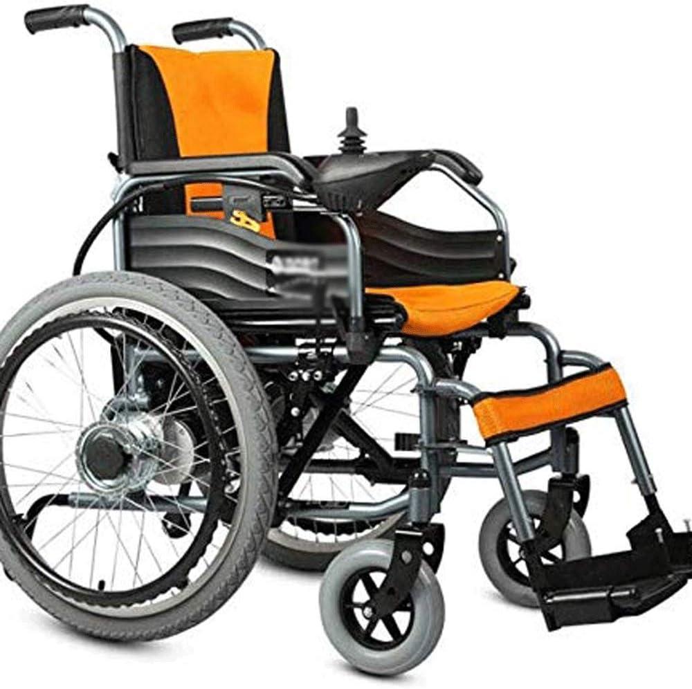 HWZLOIK Silla de Ruedas, discapacitados, Silla Plegable Ligero de Almacenamiento con Fuertes Radio de Giro for Easy Curvas Cerradas, tamaño: 109 * 93cm