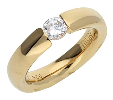 Esprit Collection Women Ring 925 Silver gold Rhea ELRG92143B, ring size:53  (16.9