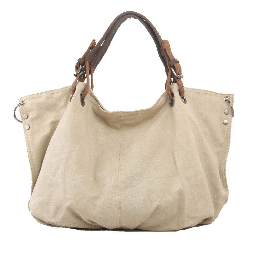 DXQI Beiläufige Segeltuch-Multifunktionshandtasche-einfache Wilde Große Kapazitäts-Umhängetaschen-Schulter-Beutel-Reise-Einkaufstasche