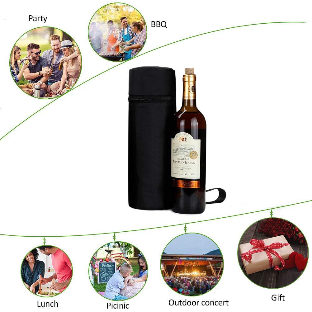 Aosbos Porte-Bouteille Isotherme Sac Bouteille d/'Eau Portable 1L pour Vin et Champagne