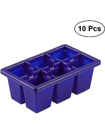 BESTOMZ 10pcs Bandejas de iniciación de plántulas Bandejas de germinación de semillas Bandejas de germinación,