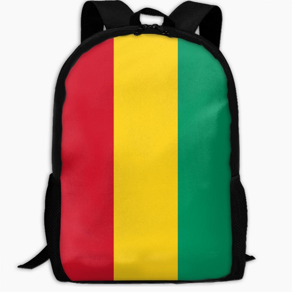 Chunlei子スクールバッグギニアの国旗アウトドア旅行バックパック学生バックパックガールズBookバッグユニセックスショルダーDaypack B07FVSK7XX
