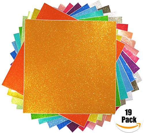 Styletech Self Adhesive Glitter Vinyl Sheets, 12 Inches, 19 Pack