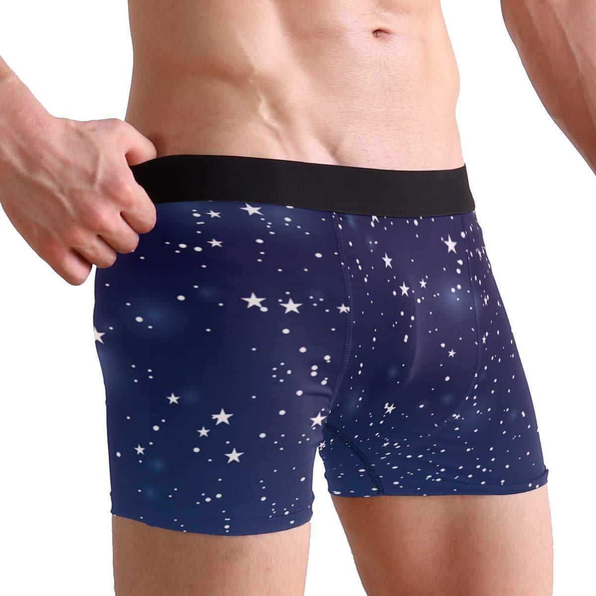 The Vast Starry Universe Mens Underwear Mens Bag Soft Cotton Underwear 2 Pack