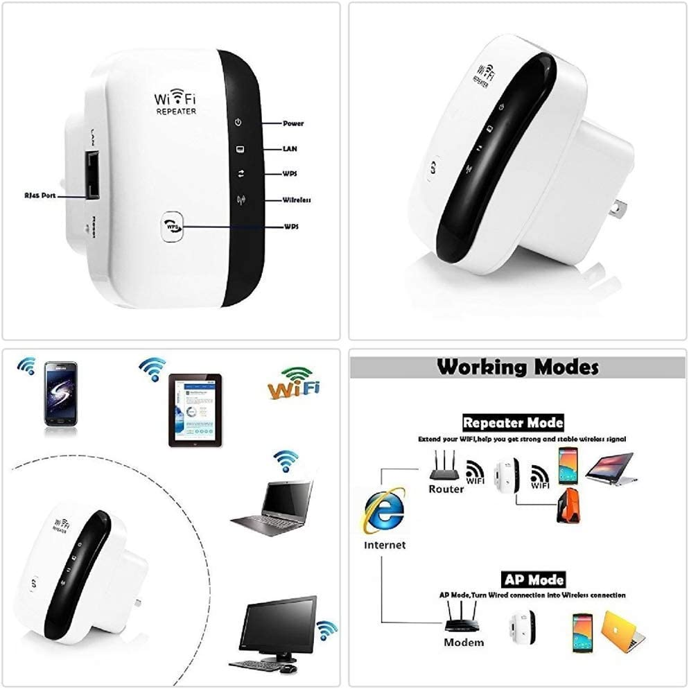 Hozora WiFi Range Extender Super Booster 300 Mbps Superboost Boost Geschwindigkeit Wireless 2,4 GHz Internet Signal Booster Verst/ärker