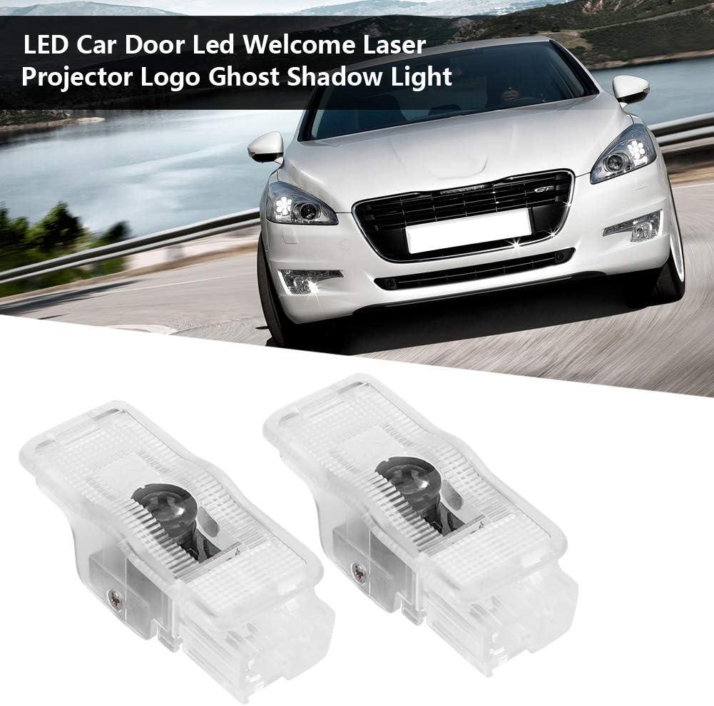 Par de LED Puerta de Coche Led Bienvenido Proyector L/áser Logo Ghost Shadow Light