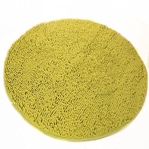 Ustide Grass Green Thick Rugs Super Soft Chenille Rug Rou...