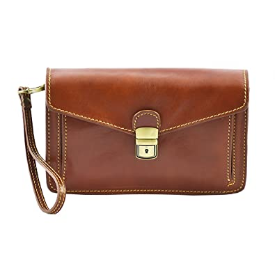 a593aadb30c8 Made In Italy Genuine Leather Man Clutch Color Brown Tuscan Leather - Man  Bag