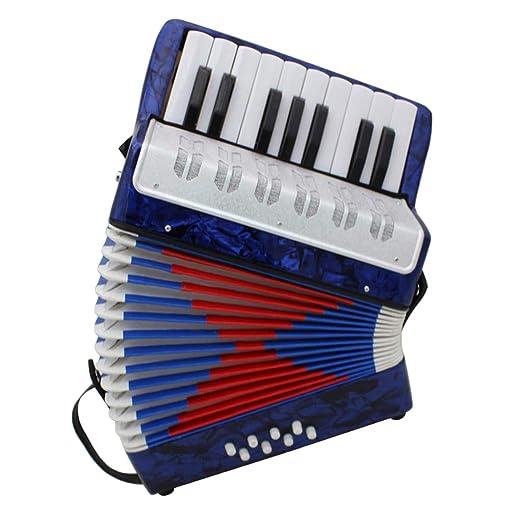Kinder Akkordeon mit 17 Tatsen Ziehharmonika Musikinstrument