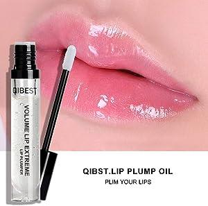 ROMANTIC BEAR Lip Plumper Lip Gloss All Natural Serum with Vitamin E, Natural Hydrating Anti-Wrinkle Lip Plumper For Fuller & Healthier Lips (A)