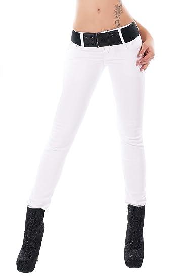 ec81257c54ea8 Noir Triple XXX - Jeans - Skinny - Femme Blanc Blanc: Amazon.fr ...