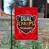 College Flags and Banners Co. Maryland Terrapins 2017 Men's and Women's Lacrosse National Champions Garden Flag