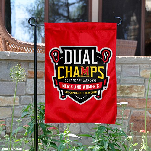 College Flags and Banners Co. Maryland Terrapins 2017 Men's and Women's Lacrosse National Champions Garden Flag by College Flags and Banners Co.