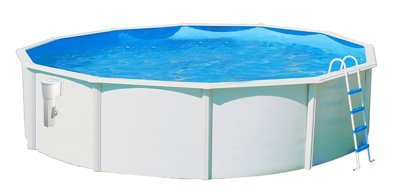 TOI - Piscina LUNA circular 460x120 cm BLANCA skimmer filtrante 3.6 m³/h