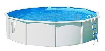 TOI - Piscina LUNA circular 350x120 cm BLANCA skimmer filtrante 3.6 m³/h