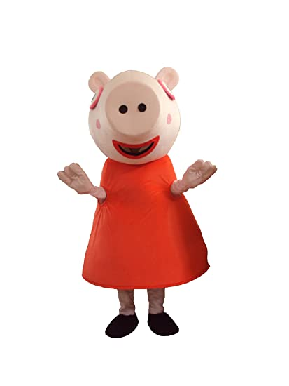 Amazon Com Peppa Pig Cartoon Mascot Costume Clothing