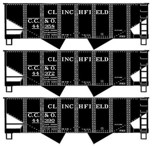 Ho USRA Twin Hoppers Clinchfield 3-Number Set