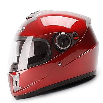 WEGCJU Astone Black Scrub Motocicleta Casco, Personalizado Modular Jet Motocross Motocicleta Casco Tamaño Completo L