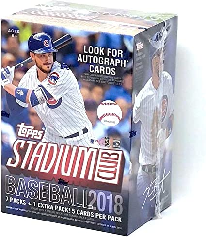 Topps 2019 Stadium Club Baseball Blaster Box 8 Packs//5 Cards